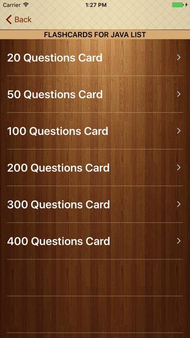 Screenshot of Impara Java con Flashcards1