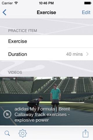InfiniteTrack Practice Planner screenshot 3