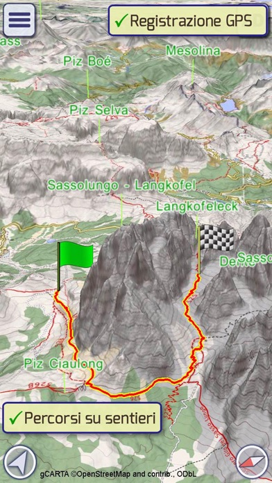 Screenshot for GeoFlyer Europe 3D Maps in Italy App Store