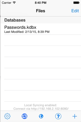 KeePass Touch screenshot 3