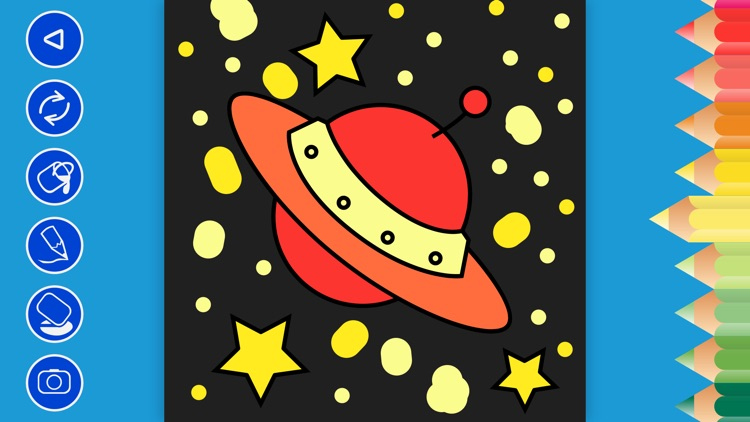 Kids Doodle Coloring Book Space Game For