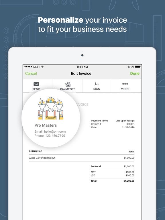 Pork Receipts Excel Joist App For Contractors On The App Store Free Online Invoices Word with Travel Invoice Format Excel Ipad Screenshot  Sample Of Invoice For Services Word