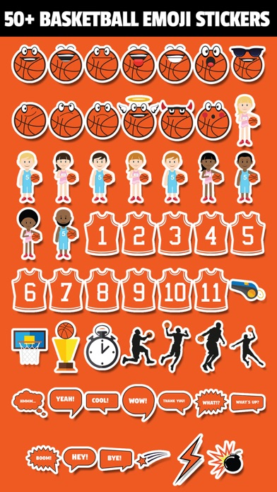 BasketMoji - #1 Basketball Emoji Sticker App Screenshot