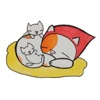 Cat And Her Kitten in Mother's Day Sticker