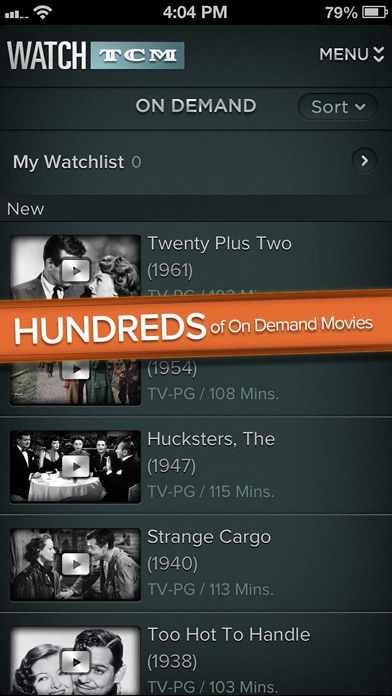 Screenshots of WATCH TCM for iPhone