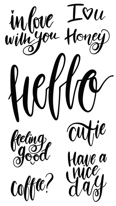 Hello Calligraphy! Stickers for iMessageСкриншоты 1