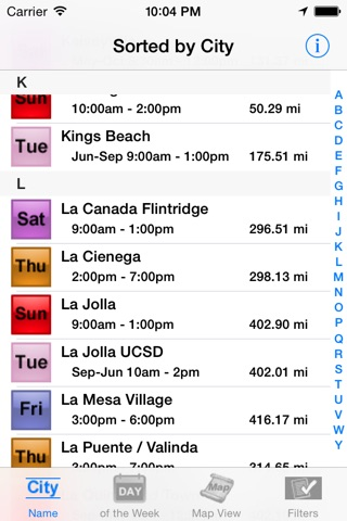 California Farmers' Market Finder screenshot 2