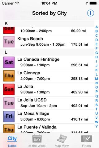 California Farmers' Market Finder screenshot 2
