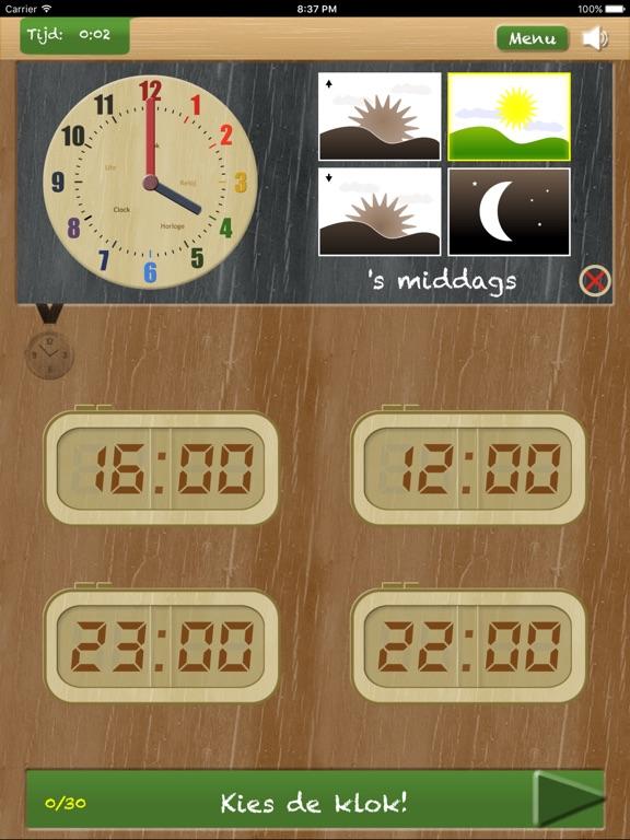 Zet de klok - leren klokkijken Screenshot