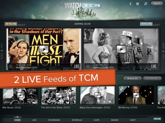 Screenshots of WATCH TCM for iPad