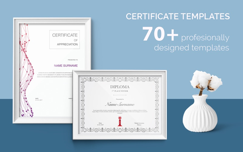 Certificate templates 70 templates for pages on the mac app store screenshot 1 yelopaper Choice Image