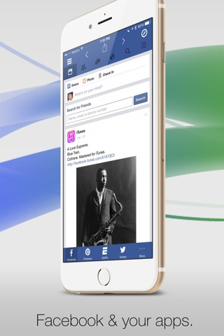 Facely HD for Facebook + Social Apps screenshot 1