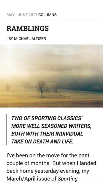 Sporting Classics review screenshots