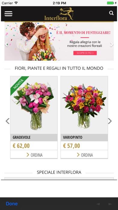 Interflora italia fiori e piante online sull 39 app store for Fiori e piante online