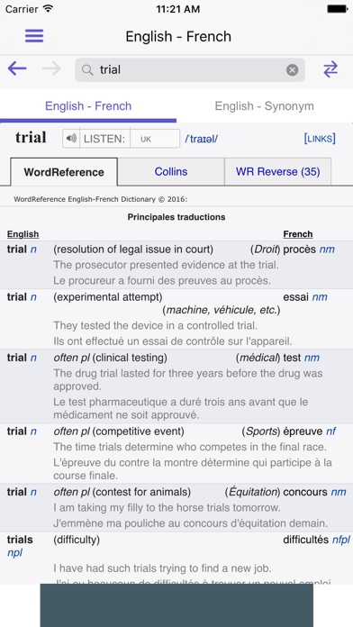 Wordreference dictionary on the app store iphone screenshot 3 negle Image collections