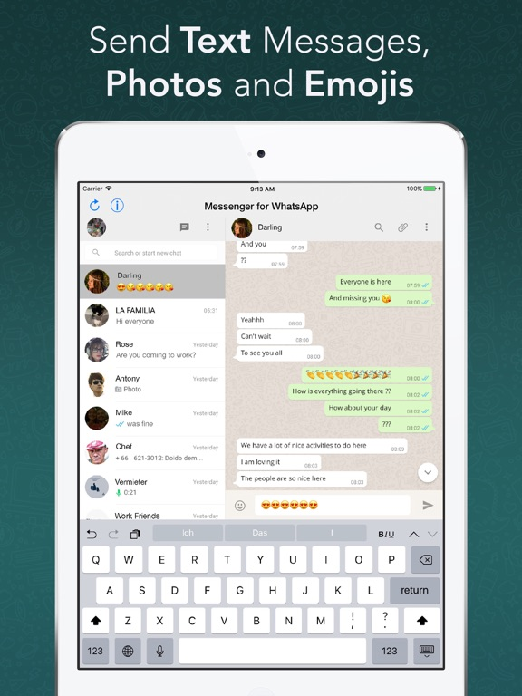 Screenshot #2 for Messenger for WhatsApp - App for iPad