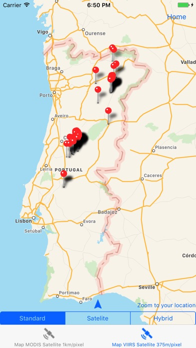Fire In Portugal On The App Store - Portugal map of fires
