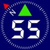 Kompass 55. GPS Tracker, Karten, Offroad Navigator
