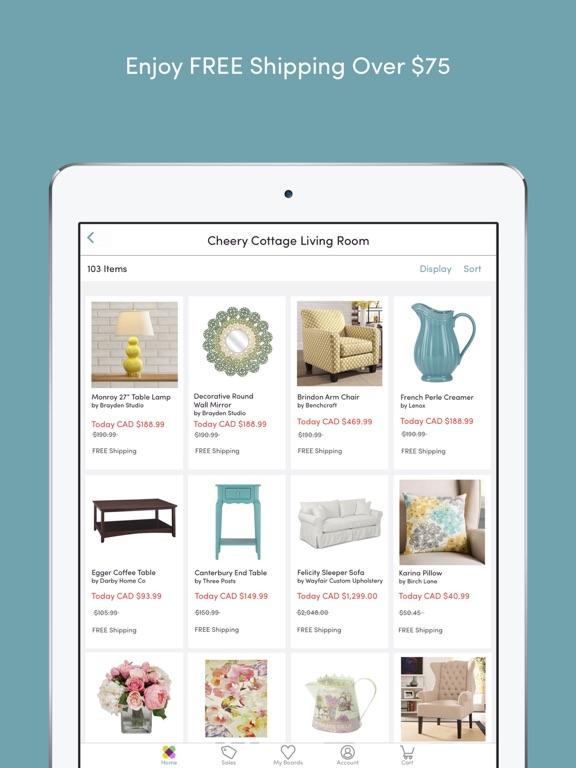 Wayfair shop all things home dans l app store for Wayfair store