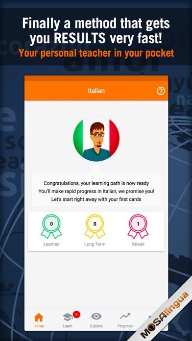 Learn Italian - MosaLingua Screenshot