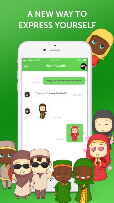 Muslim Emoji Messaging App screenshot 3