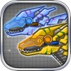 機械迅猛龍:組裝/拼裝恐龍玩具——雙人益智拼圖小遊戲