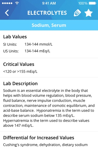 Lab Values Medical Reference screenshot 2