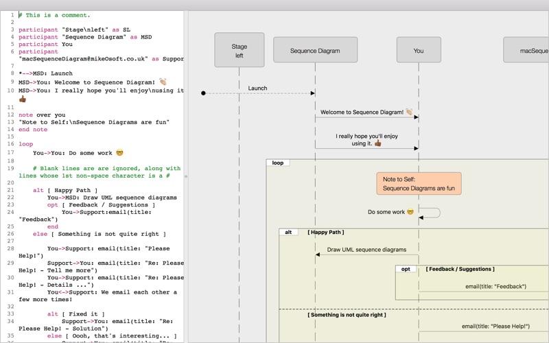 screenshot 1 - Sequence Diagram Mac