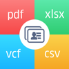 Contacts to XLSX, PDF, CSV VCF
