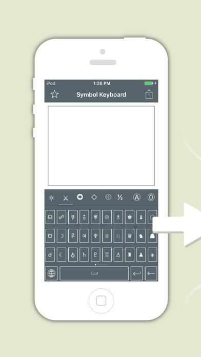 Screenshots of Symbol Keyboard - Unicode Icons Signs,Characters Symbols,Emoji Art for Texting for iPhone