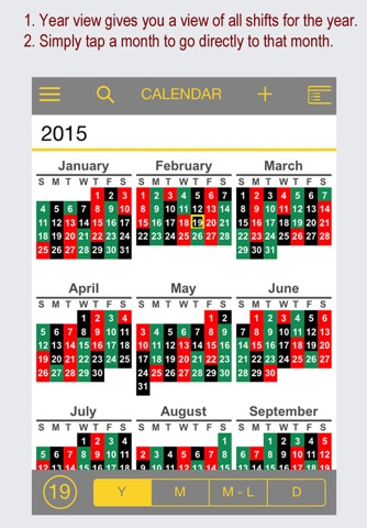 FireSync Shift Calendar screenshot 2