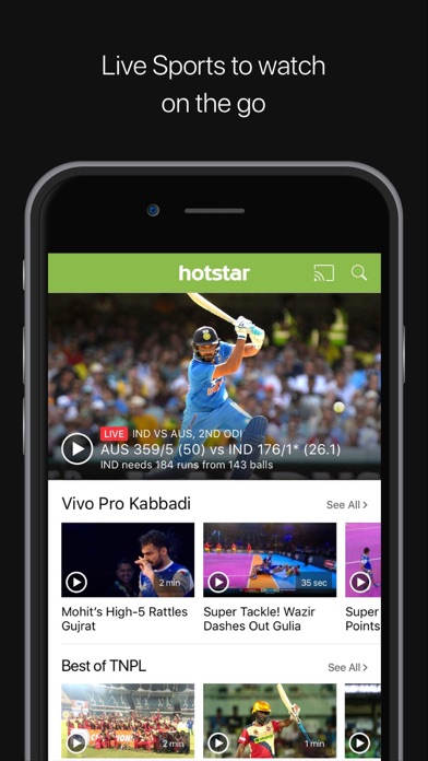 Screenshots of Hotstar for iPhone