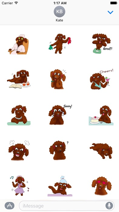 Red Poodle Dog Lady Sticker review screenshots