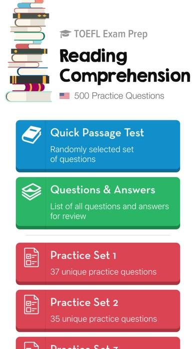 TOEFL Reading: Practice Tests Screenshot