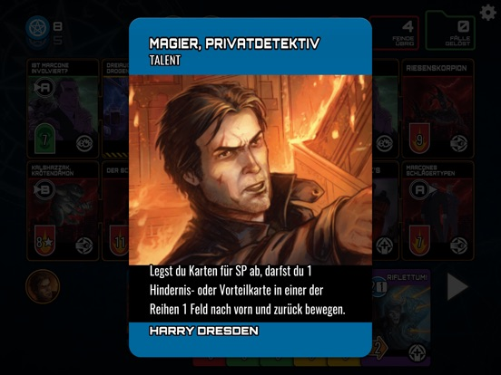 Screenshot 2 Dresden Files Co-op Card Game