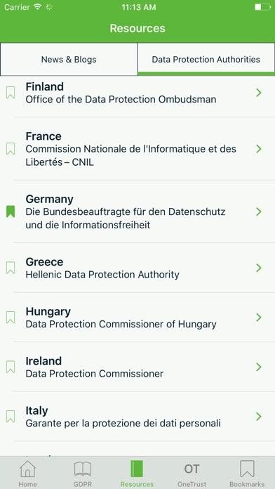 Screenshot of Centro risorse del GDPR3