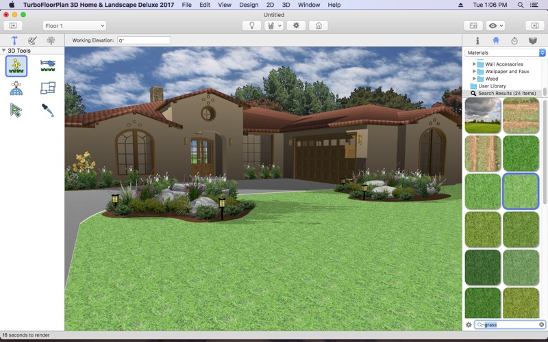 Turbofloorplan home and landscape deluxe 2017 on the mac for 3d home architect landscape design deluxe v6 0