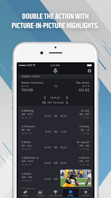 NFL Sunday Ticket Screenshots
