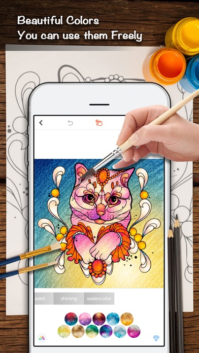 Color Doodle Coloring Book For Adults On The App Store