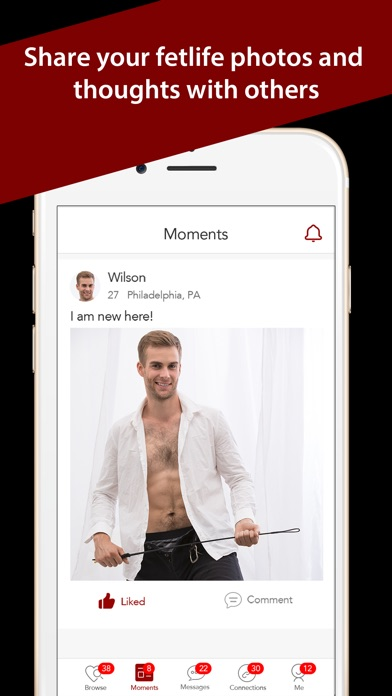 Screenshots of GFet: BDSM, Kink Fetish Dating for iPhone