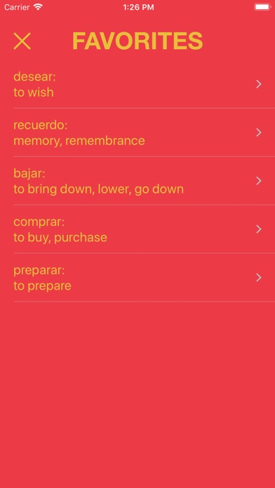 Learn Spanish Words - Palabras Screenshot