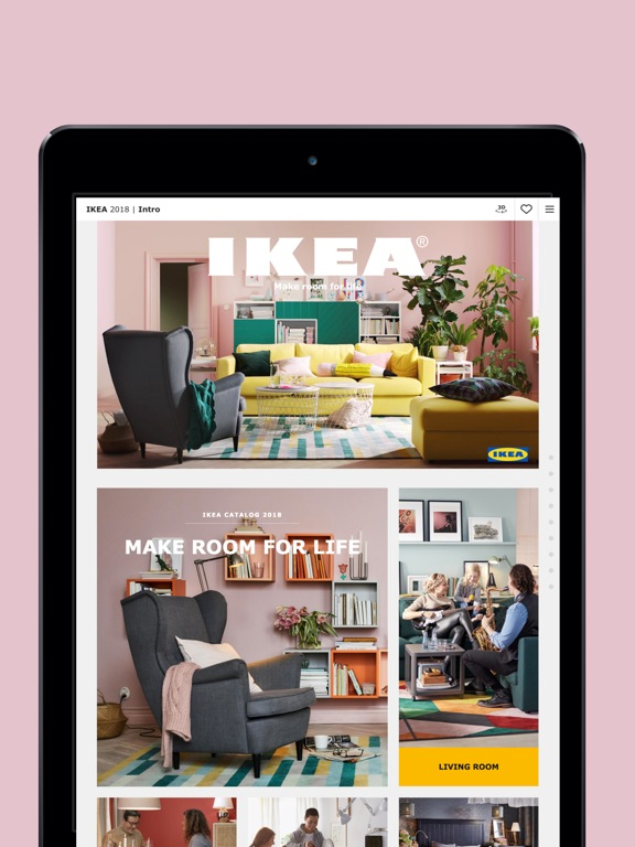 iPad Screenshot 1. IKEA Catalog on the App Store