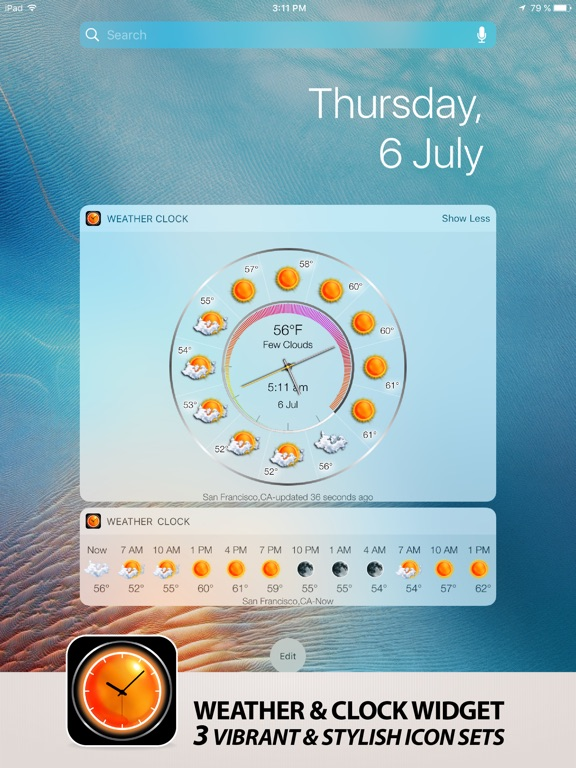 Weather clock widget local hourly weather forecast on the - Home design app used on love it or list it ...