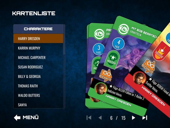 Screenshot 1 Dresden Files Co-op Card Game