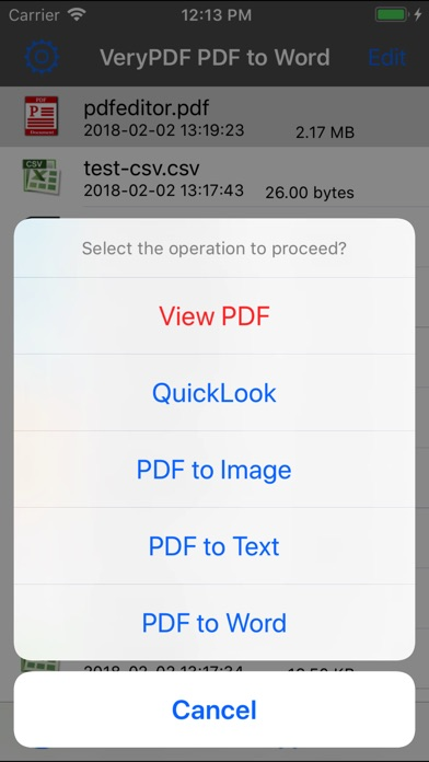 VeryPDF PDF to Word Screenshots