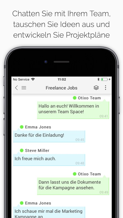 "otixo - business collaboration"" im app store, Einladung"