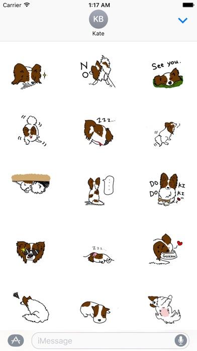 papillon dog emoji sticker app report on mobile action. Black Bedroom Furniture Sets. Home Design Ideas