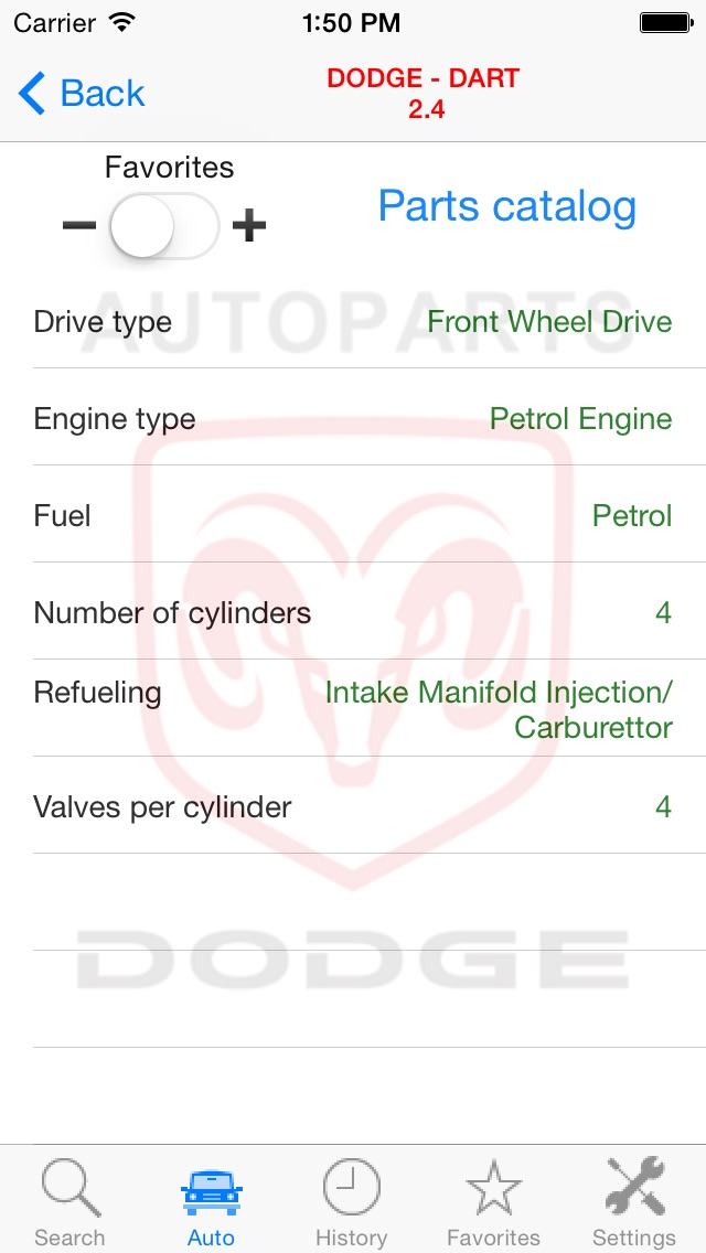 Автозапчасти для DodgeСкриншоты 5