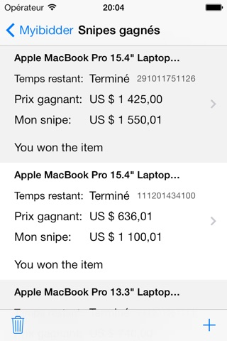 Myibidder Auction Sniper PPS screenshot 4