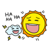 The Sun and Cloud Emoji Sticker Wiki
